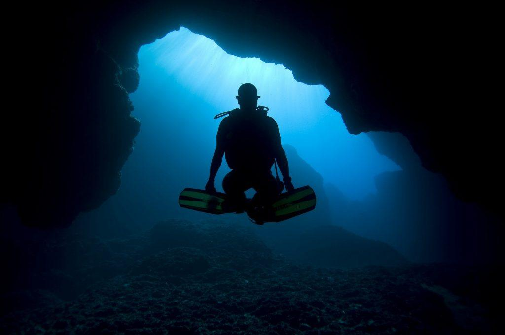 First Cathedral cave diving